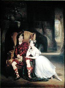 """Paul zusammen mit seiner Schwester Marie Taglioni im Ballet """"La Sylphide"""" (1832) (Quelle: Wikimedia)"""