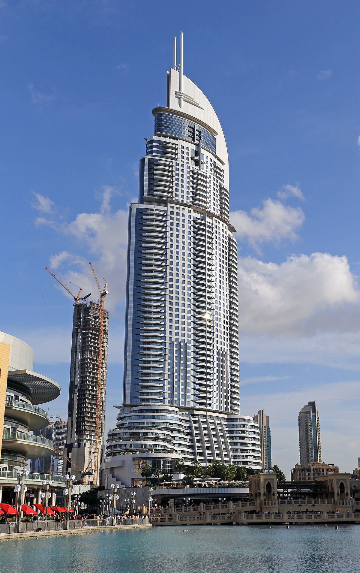 The address downtown dubai wikipedia for List of hotels in dubai with contact details