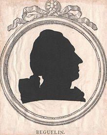 Der zivile Erzieher: Nikolaus de Béguelin; Schattenriß von Johann Friedrich Gottlieb Unger (1753–1804) (Quelle: Wikimedia)