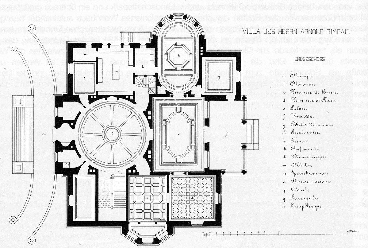 Datei Braunschweig Rimpau Villa Grundriss 1881 Jpg Wikipedia