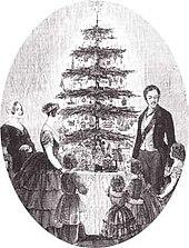 Die Königsfamilie am Christbaum, The Illustrated London News, 1848 (Quelle: Wikimedia)