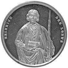 Heinrich der Loewe commemorative medal from 1861 Braunschweig 1.jpg