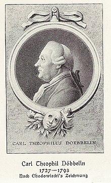 Karl Theophil Döbbelin (Quelle: Wikimedia)