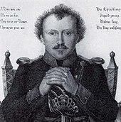 Friedrich de la Motte-Fouqué (Kupferstich von F. Fleischmann nach einer Zeichnung von W. Hensel, um 1820) (Quelle: Wikimedia)