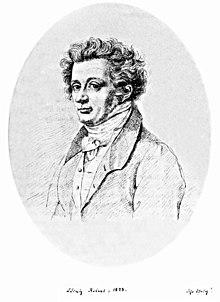 """Porträt von 1823 aus der Sammlung Varnhagen mit Zusatz K. A. Varnhagens: """"Sehr ähnlich!"""" (Quelle: Wikimedia)"""