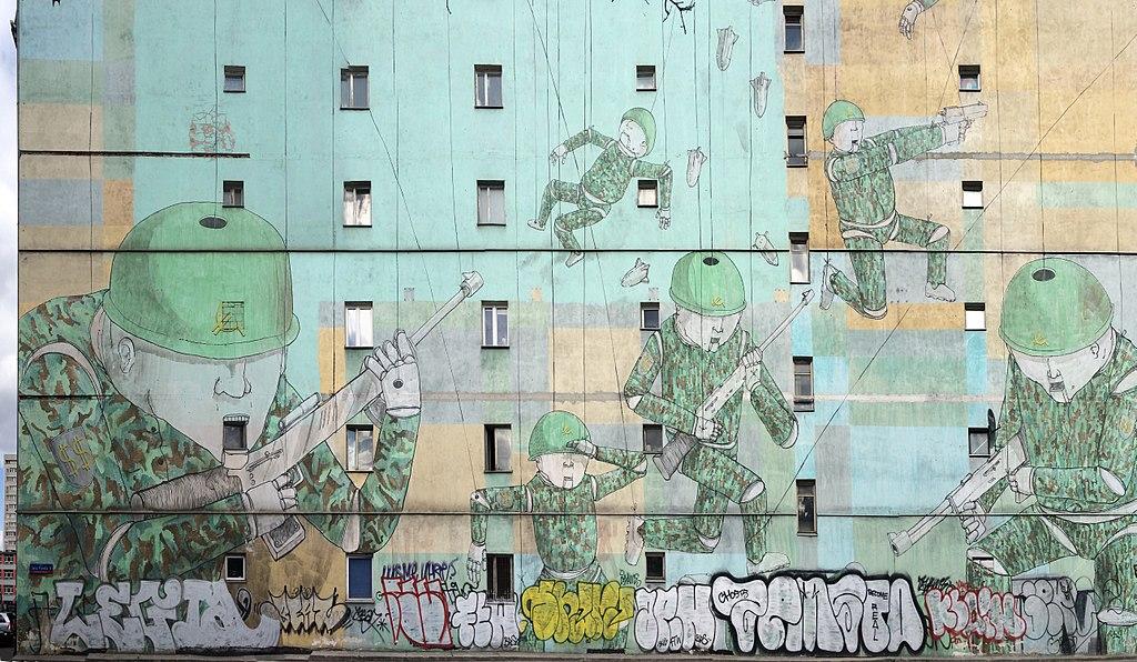 Street Art : Blu muro a Varsavia in Polonia - Foto di Achim Bodewig