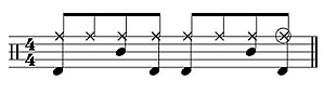 Simple eighth note beat