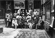 Richard Pohl vorne links mit den Malern des Badener Salons im Jahre 1895. (Quelle: Wikimedia)