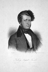 Ludwig August Frankl, Lithographie von Johann Stadler (Quelle: Wikimedia)