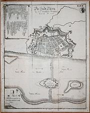 Illustration of the fortifications of Thorn, 1703