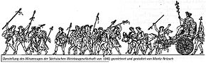 Retzsch, Winzerzug, 1840 (Blatt 2: Bacchus mit Begleitern, u.a. Silenos) (Quelle: Wikimedia)