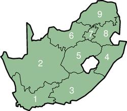Die neun Provinzen Südafrikas