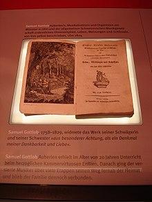 Auberlens Lebensbeschreibung im Stadtmuseum Fellbach (Quelle: Wikimedia)