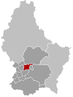 Lage von Kehlen im Gro�herzogtum Luxemburg