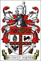 Coat of arms with inscription - VIS UNITA FORTIOR - (united strength is stronger)