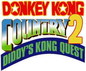 581px-Donkey Kong Country 2 Logo.png