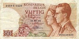 Banknote zu 50 Franken von 1966