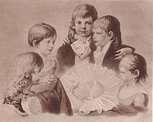 Kinder von König Friedrich WilhelmIII. und Königin Luise von Preußen (ca. 1803). In der Mitte Kronprinz Friedrich Wilhelm, rechts daneben Prinz Wilhelm. (Quelle: Wikimedia)