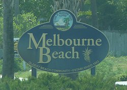 Welcome Sign von Melbourne Beach