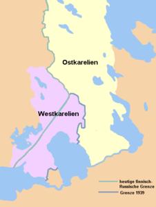 Karte von Ost- und Westkarelien