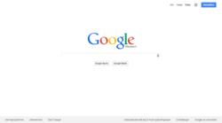 Bildschirmfoto der Google-Website