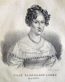 Porträt Rahel Varnhagen. Lithographie (1834) von Gottfried Küstner nach Moritz Daffingers Pastell von 1818 (Quelle: Wikimedia)