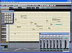 Oberfläche von Vocaloid, die einer Notenrolle nachempfunden ist