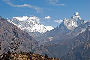 Panorama – Everest, Lhotse und Ama Dablam