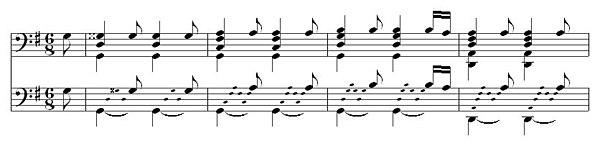 Marin Marais: La Guitare.  Pièces de violes III No. 107 (1711)