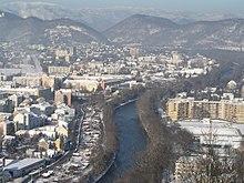 Blick vom Schloßberg in den Norden von Graz