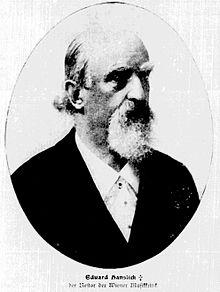 Eduard Hanslick um 1900 (Quelle: Wikimedia)