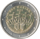 €2 commemorative coin San Marino 2008.png