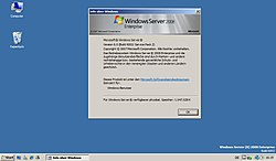 Bildschirmausdruck von Windows Server 2008 Enterprise