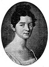 Amalie Sebald, Elfenbeinminiatur von Johann Heusinger, 7,1 × 5,7 cm, 1814 (verschollen) (Quelle: Wikimedia)