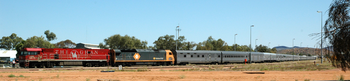 The Ghan in Alice Springs