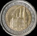 € 2 commemorative coin Vatican City 2005.png