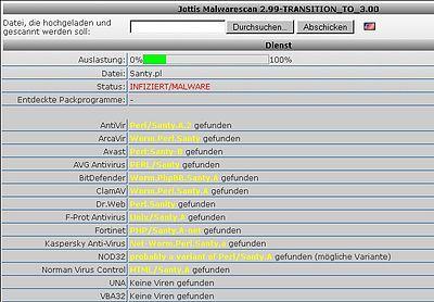 Online-Scanner findet Wurm.Santy – ein durch eine Schwachstelle in phpBB-Foren sehr stark verbreiteter Wurm