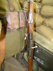 Αραβίδα M1903/14. Διακρίνονται, το κινητό ουραίο και το κλισιοσκόπειο.