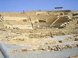 Ηφαιστία: το αρχαίο θέατρο.