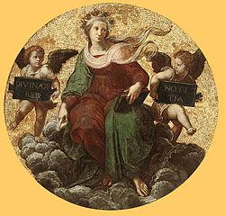 Ανθρωπομορφική παράσταση της Θεολογίας (Raffaelo Sanzio, Stanza della Segnatura, 1509 - 1511, Palazzi Pontifici, Βατικανό)