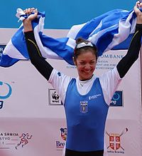 Katerina Nikolaidou in Belgrade european champion2014.jpg