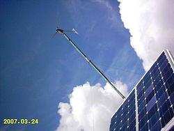 Υβριδικό αυτόνομο σύστημα ηλεκτρικής ενέργειας, αποτελούμενο από φωτοβολταϊκή συστοιχία, ανεμογεννήτρια, εφεδρικό Η/Ζ και συσσωρευτές