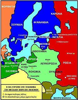 Η Βόρεια Ευρώπη στο ξεκίνημα του πολέμου.