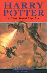 Εξώφυλλο της αγγλικής έκδοσης του βιβλίου Ο Χάρι Πότερ και το Κύπελλο της Φωτιάς.