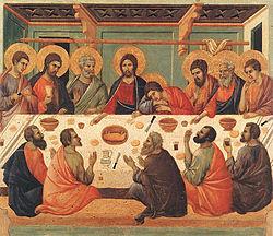 Στο Μυστικό Δείπνο ο Ιησούς Χριστός τέλεσε για πρώτη φορά το Μυστήριο της Θείας Ευχαριστίας, παραδίδοντάς το στους Αποστόλους και δι' αυτών στην Εκκλησία