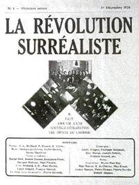 André Breton, La Révolution surréaliste, 1924 (πρώτο τεύχος)