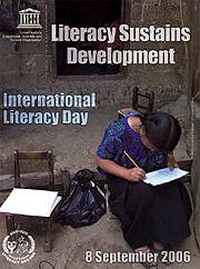 Διεθνής Ημέρα για την Εξάλειψη του Αναλφαβητισμού 2006 - αφίσα της Ουνέσκο