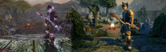 In addition to the migration to Unreal Engine 3, textures, lighting, and shadows were significantly improved along with longer draw distances over the original game. Fable Anniversary comparison.jpg