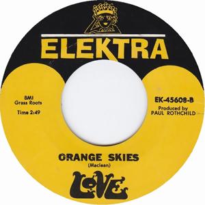 Orange Skies 1966 single by Love