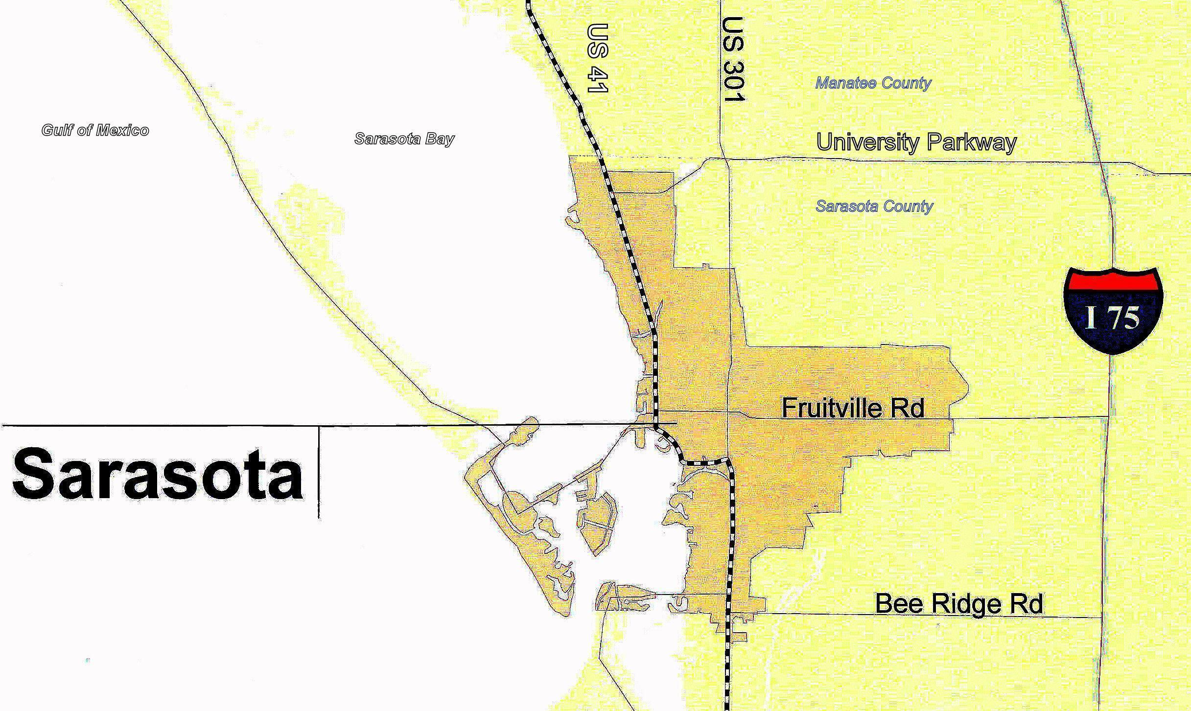 FileSarasota City Colored Gold Dm Map Of Tamiami - Map of us trail lines